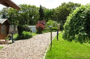 Martlets Cattery Reception and Garden Path leading to Cattery